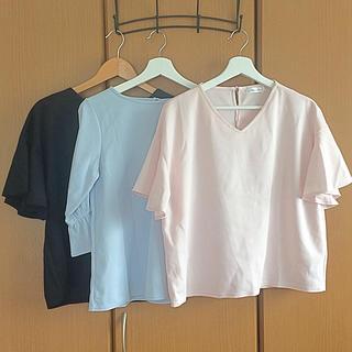 シマムラ(しまむら)の新品 とろみブラウス 3点セット(シャツ/ブラウス(半袖/袖なし))