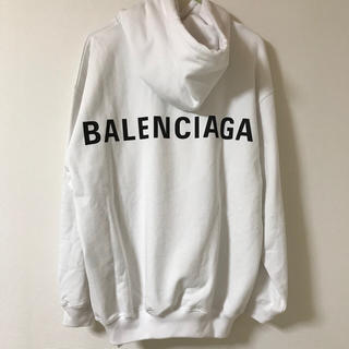 バレンシアガ(Balenciaga)の残りわずか BALENCIAGA ロゴ入り パーカー 関税込(パーカー)