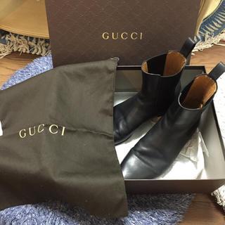 グッチ(Gucci)のGUCCI グッチ レザーブーツ 黒(ブーツ)