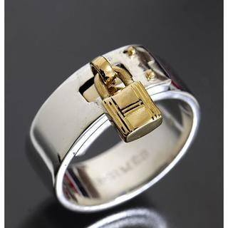 エルメス(Hermes)のエルメス ケリー コンビ リング size56 K18YG×SV 仕上済 箱レア(リング(指輪))