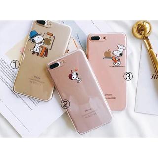 スヌーピー(SNOOPY)のiPhone透明カバーNO.5(iPhoneケース)