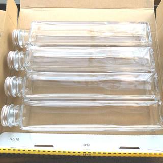 ハーバリウム用スクエア瓶 200ml 4本 (その他)