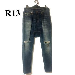 アールサーティーン(R13)のR13 アールサーティーン 名作 ダメージリメイク加工サルエルデニム (デニム/ジーンズ)