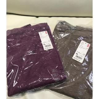 ユニクロ(UNIQLO)の【新品】ユニクロのボートネックボックスTシャツ2点セット(Tシャツ(長袖/七分))