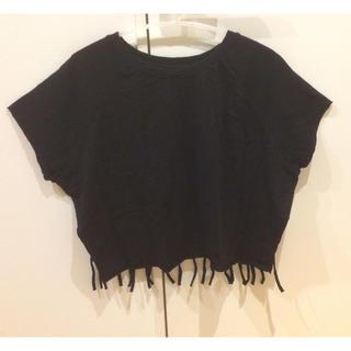 バーニーズニューヨーク(BARNEYS NEW YORK)のZOE tee's フリンジ Tシャツ(Tシャツ(半袖/袖なし))
