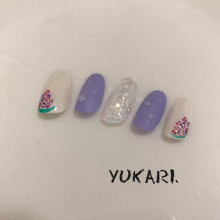 紫陽花 水滴ネイル 梅雨 ネイルチップ