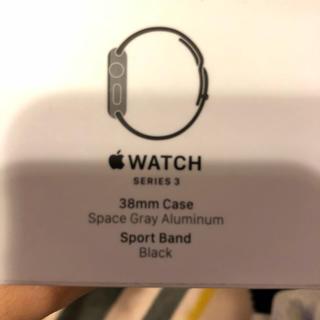 アップル(Apple)のApple watch3  GPS 38mm(腕時計(デジタル))