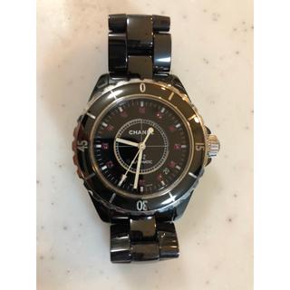 シャネル(CHANEL)のシャネル J12 ルビーモデル セラミック 腕時計 自動巻(腕時計(アナログ))