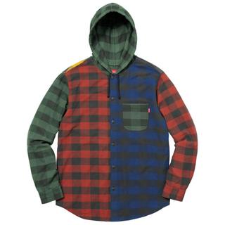 シュプリーム(Supreme)のXL Hooded Buffalo Plaid Flannel Shirt (シャツ)