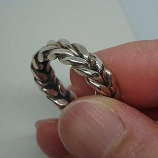 シルバー編み込みデザインリング (リング(指輪))