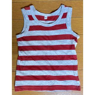 MUJI (無印良品) - 無印良品 ノースリーブボーダーシャツ 90㎝