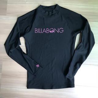 ビラボン(billabong)のビラボン M ラッシュガード 黒 ピンク レディース (サーフィン)