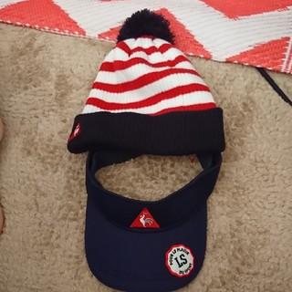 ルコックスポルティフ(le coq sportif)のサンバイザー&ニット帽付き(その他)