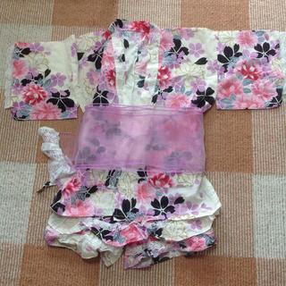 シマムラ(しまむら)の花柄レディース甚平(浴衣)