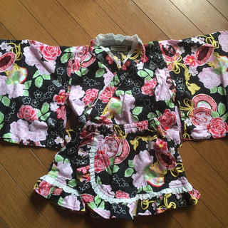 アンパサンド(ampersand)の美品♡ampersandドレス浴衣 サイズ90(その他)