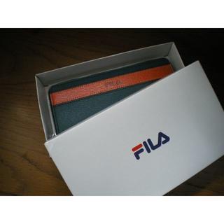 フィラ(FILA)の値下げしました‼ FILAの長財布 本革ピッグレザー ターコイズブルー/キャメル(長財布)