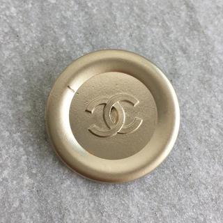 シャネル(CHANEL)のCHANEL 32mm 大粒 シャンパンゴールド つや消し ボタン(ヘアゴム/シュシュ)