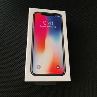 アップル(Apple)のiPhoneX 256GB スペースグレイ SIMフリー  MQC12J/A (スマートフォン本体)