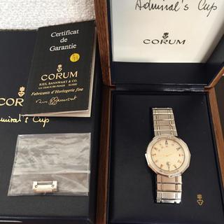 コルム(CORUM)の鑑定済み 正規品 CORUM 時計 メンズ(金属ベルト)