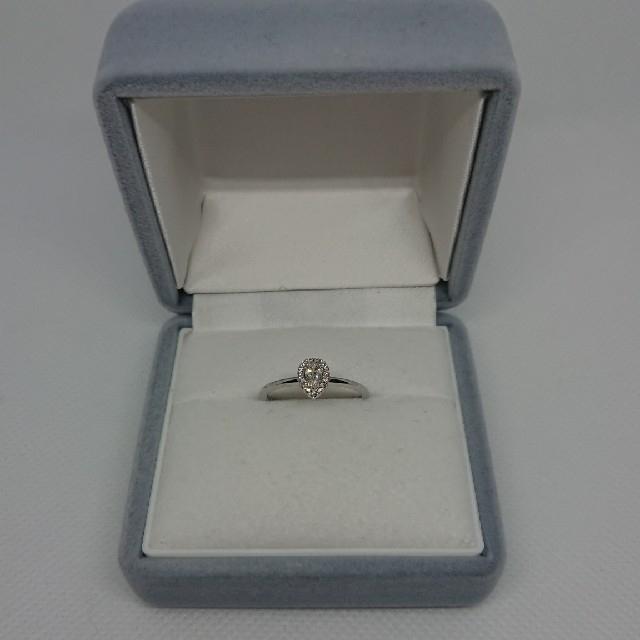 K18WG  ペアシェイプダイヤモンドリング     レディースのアクセサリー(リング(指輪))の商品写真