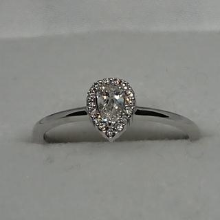 K18WG  ペアシェイプダイヤモンドリング    (リング(指輪))