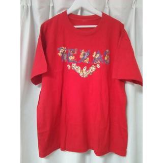 Tシャツ XL サイズ USA レッド 赤 RED(Tシャツ/カットソー(半袖/袖なし))