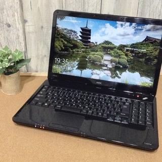 エヌイーシー(NEC)の大特価☆高速Corei5 爆速SSD 超高性能パソコン★美品♪人気ブラック(ノートPC)