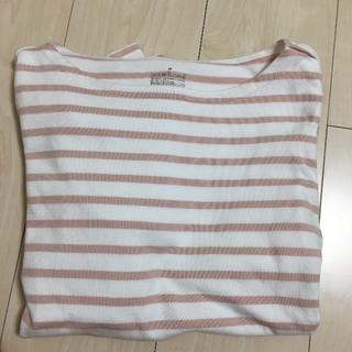 ムジルシリョウヒン(MUJI (無印良品))のボーダーカットソー(Tシャツ(長袖/七分))