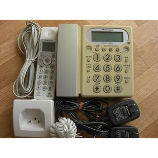 パイオニア(Pioneer)の【中古】パイオニア 留守番電話機TF-1100 子機1台・取扱説明書付き(その他)