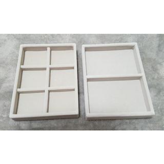 ムジルシリョウヒン(MUJI (無印良品))の無印 アクリルケース用・ベロア内箱仕切 2つセット (小物入れ)