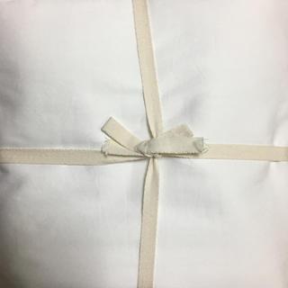ムジルシリョウヒン(MUJI (無印良品))の無印良品 高密度織敷布団カバー 140x210cm白(シーツ/カバー)