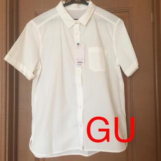ジーユー(GU)の☆新品 タグ付き❣️GU ロールアップ シャツ L(シャツ/ブラウス(半袖/袖なし))