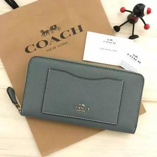 コーチ(COACH)の最新モデル COACH 長財布 シーブルー(財布)