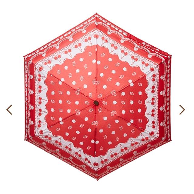 Q-pot.(キューポット)のチェリーホイップ 折りたたみ傘 レディースのファッション小物(傘)の商品写真