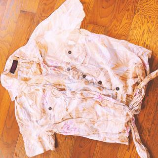 アビラピンク(AVIRA PINK)の花柄 シャツ(シャツ/ブラウス(半袖/袖なし))