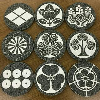 戦国武将 石の家紋コースター(テーブル用品)
