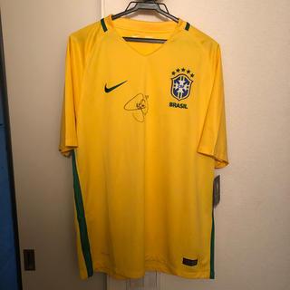 ナイキ(NIKE)のネイマール直筆サイン入 ブラジル代表ユニフォーム (スポーツ選手)