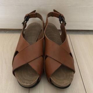ブッテロ(BUTTERO)のブッテロ BUTTERO 靴 サンダル 36 レザー 茶 レディース (サンダル)