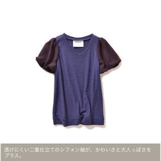 ハコ(haco!)のシフォンパフスリーブのカットソートップス(カットソー(半袖/袖なし))