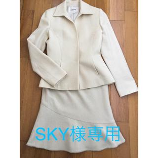ミッシェルクラン(MICHEL KLEIN)のSKY様専用  イトキン 白 スーツ(スーツ)