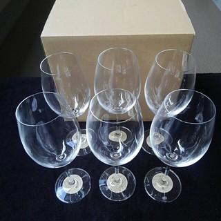 ムジルシリョウヒン(MUJI (無印良品))の未使用 無印良品 クリスタルワイングラス 6個セット(グラス/カップ)