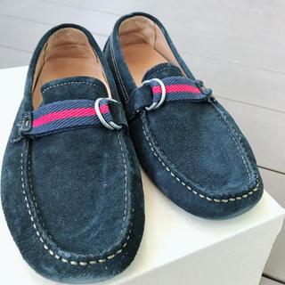 ザラ(ZARA)のZARA 春夏メンズ モカシンシューズ 靴 使用感あり ネイビースエード 40(スリッポン/モカシン)