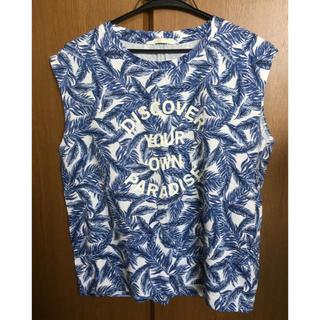 ジーユー(GU)のGU Tシャツ ノースリーブ タンクトップ(シャツ/ブラウス(半袖/袖なし))
