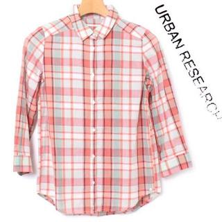 アーバンリサーチ(URBAN RESEARCH)のURBAN RESEARCH 2WAY 七分袖 チェックシャツ 定価5,500円(シャツ/ブラウス(長袖/七分))