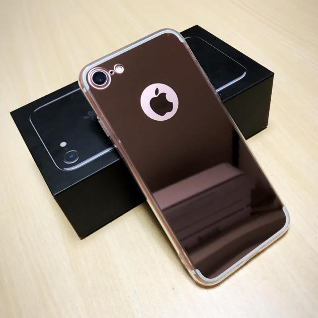 db97013c80 格安 お洒落 リング付 鏡面 iPhone 7 8ケース ミラー ピンクゴールド スマホ/家電/