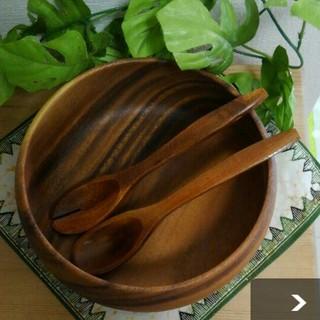 ムジルシリョウヒン(MUJI (無印良品))の最終お値下げ‼ アカシアサラダボウル(大) 無印良品 新品  (食器)