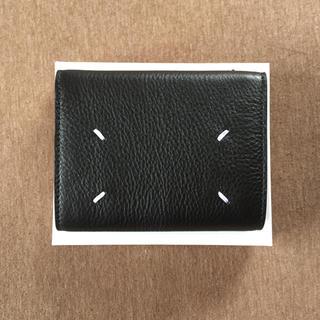 マルタンマルジェラ(Maison Martin Margiela)の18SS新品 マルジェラ 折り財布 今期 黒(折り財布)