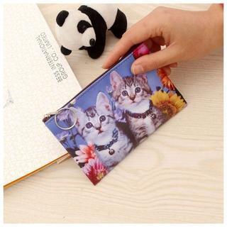 猫ミニポーチ 猫お財布コインケース 猫小物入れ 猫カード入れ 新品未使用品♪(猫)