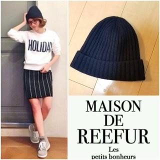 メゾンドリーファー(Maison de Reefur)の【特価】カシミアニット帽子(ニット帽/ビーニー)