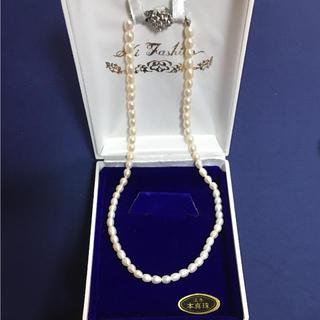 パール(pearl)のフルカワ様★パールネックレス 本真珠 未使用 箱つき(ネックレス)